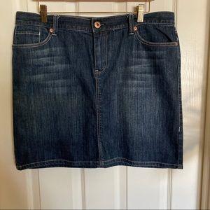 NY&Co Denim Skirt, Sz 14 Exec Cond